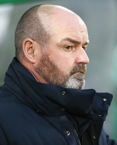 GLASGOW, SCOTLAND - DECEMBER 08: Kilmarnock manager Steve Clarke looks on during the Scottish Ladbrokes Premiership match between Celtic and Kilmarnock at Celtic Park Stadium on December 8, 2018 in Glasgow, Scotland.