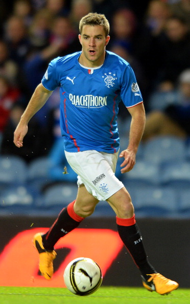 GLASGOW, SCOTLAND - NOVEMBER 1: Andrew Little of Rangers in action during the The William Hill Scottish Cup Third Round match at Ibrox Stadium on November 1, 2013 in Glasgow, Scotland.