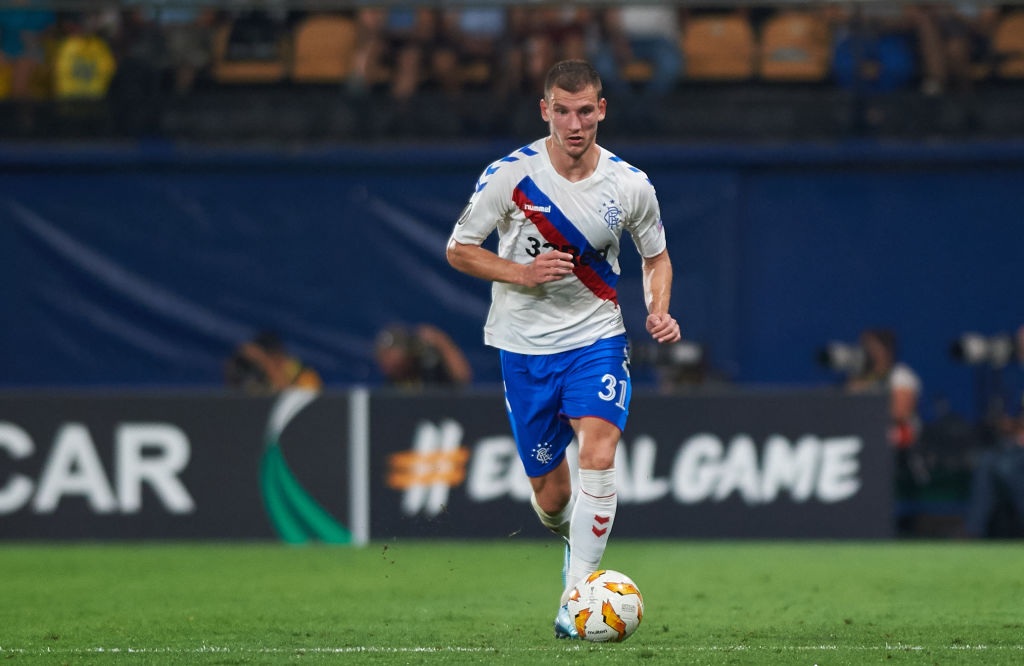 Borna Barisic of Rangers FC during the UEFA Europa League Group G match between Villarreal CF and Rangers FC at La Ceramica Stadium on September 20, 2018 in Vila-real, Spain.