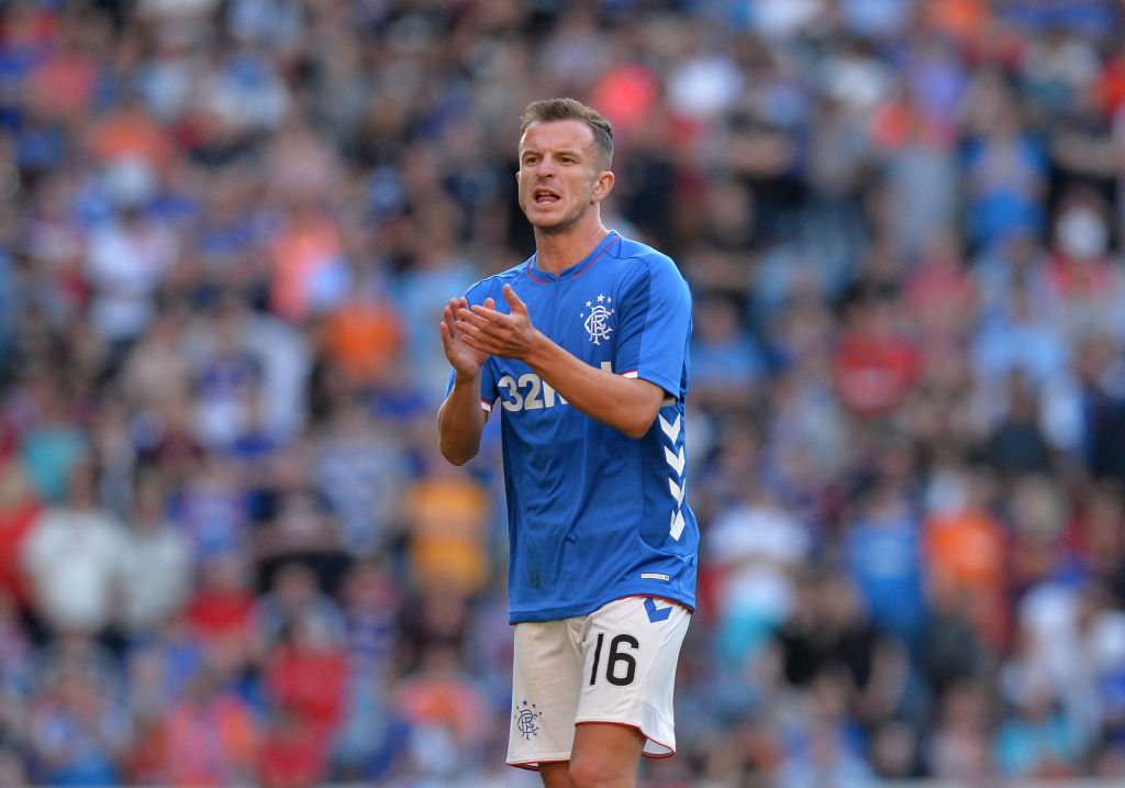 GLASGOW, SCOTLAND - JULY 06: Andy Halliday of Rangers in action during the Pre-Season Friendly between Rangers and Bury at Ibrox Stadium on July 6, 2018 in Glasgow, Scotland.