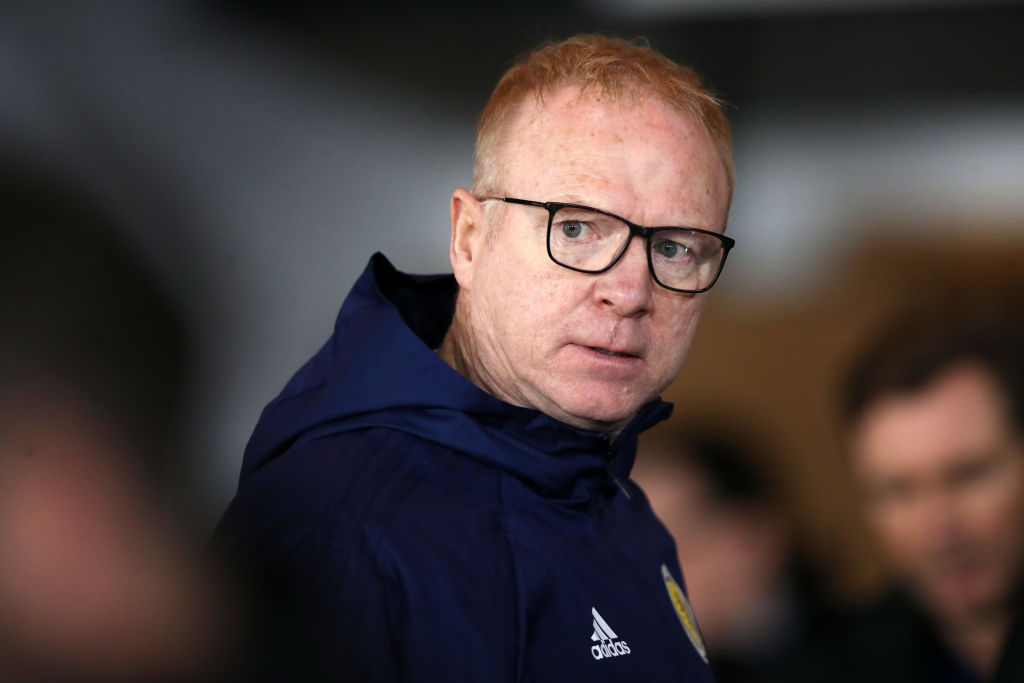 GLASGOW, SCOTLAND - NOVEMBER 20: Alex McLeish, Manager of Scotland looks on prior to the UEFA Nations League C group one match between Scotland and Israel at Hampden Park on November 20, 2018 in Glasgow, United Kingdom.