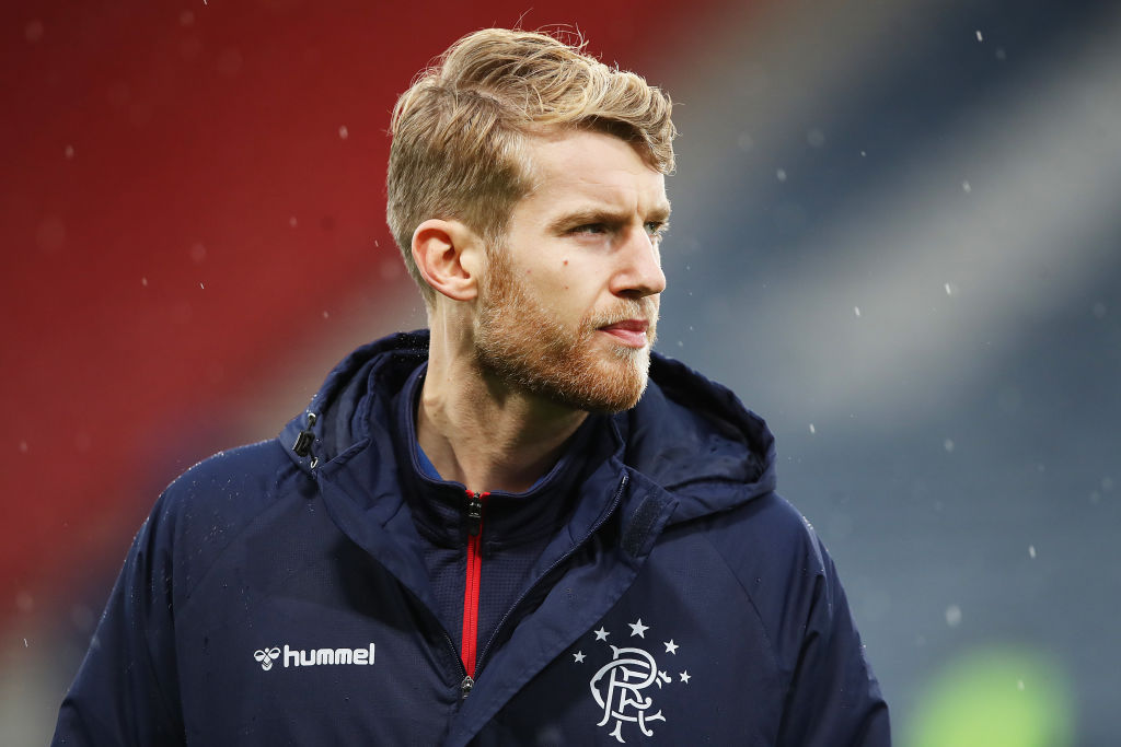 GLASGOW, SCOTLAND - DECEMBER 08: Filip Helander of Rangers FC looks on prior to the Betfred Cup Final between Rangers FC and Celtic FC at Hampden Park on December 08, 2019 in Glasgow, Scotland.