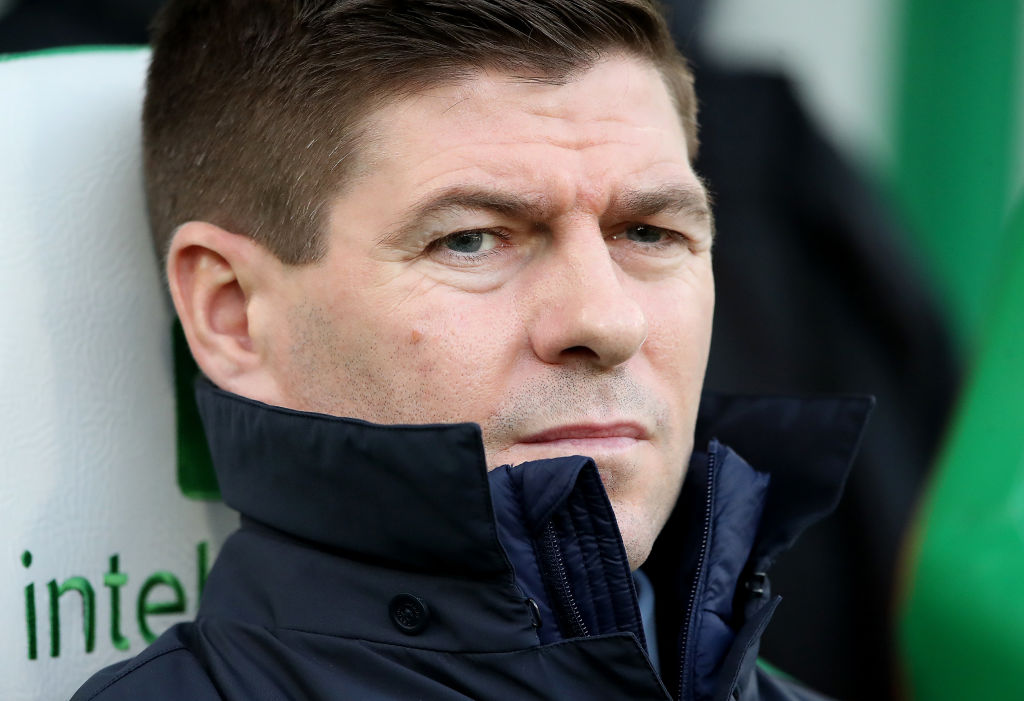 GLASGOW, SCOTLAND - DECEMBER 29: Rangers Manager Steven Gerrard during the Ladbrokes Premiership match between Celtic and Rangers at Celtic Park on December 29, 2019 in Glasgow, Scotland.