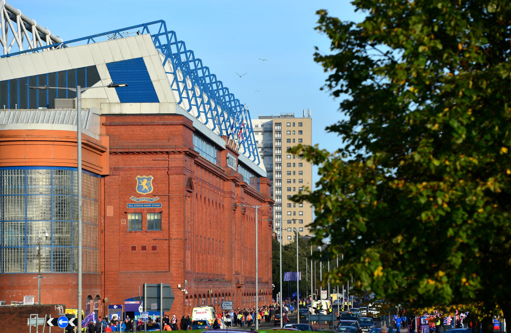 GLASGOW, SCOTLAND - SEPTEMBER 19: General view outside the stadium during the UEFA Europa League group G match between Rangers FC and Feyenoord at Ibrox Stadium on September 19, 2019 in Glasgow, United Kingdom.