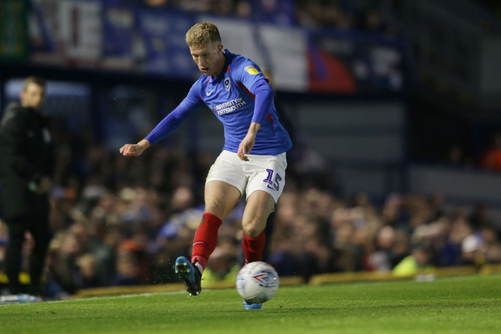 PORTSMOUTH, ENGLAND - OCTOBER 22: Ross McCrorie of Portsmouth FC during the Sky Bet Leauge One match between Portsmouth and Lincoln City at Fratton Park on October 22, 2019 in Portsmouth, England. Rangers