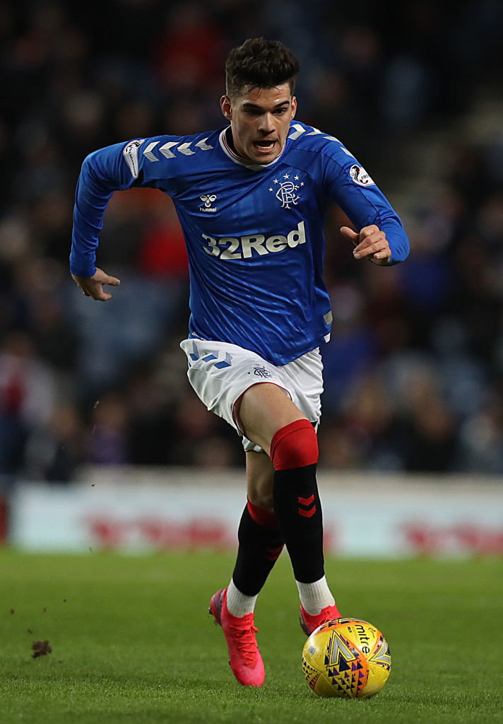 GLASGOW, SCOTLAND - MARCH 04: Ianis Hagi of Rangers is seen in action during the Ladbrokes Premiership match between Rangers and Hamilton Academical at Ibrox Stadium on March 04, 2020 in Glasgow, Scotland.