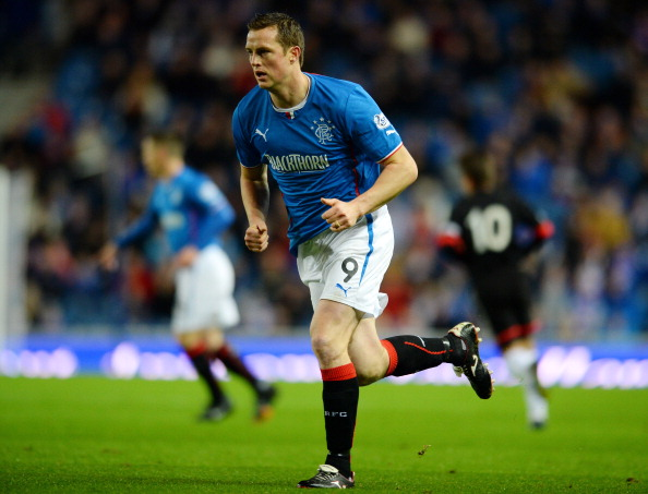 GLASGOW, SCOTLAND - NOVEMBER 6: Jon Daly of Rangers in action during the Scottish League One match between Rangers and Dunfermline at Ibrox Stadium on November 6, 2013 in Glasgow, Scotland.