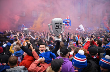 Rangers Fans Outside Ibrox