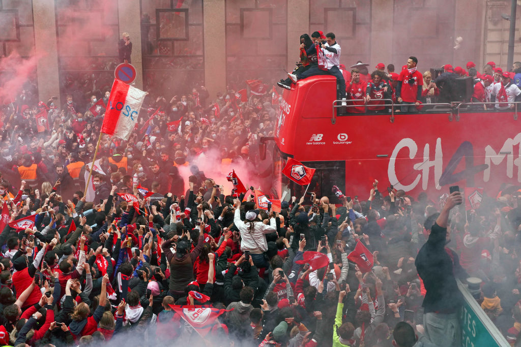 Lille OSC And Fans Celebrate After Winning The Ligue 1 Title