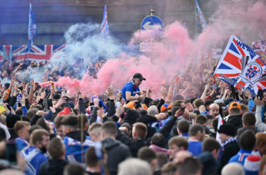 Fans Celebrate As Rangers Crowned Champions