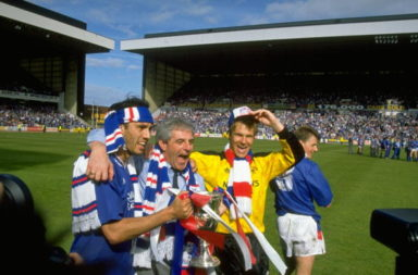 Mark Hately, Walter Smith and Chris Woods of Rangers