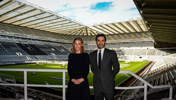 Amanda Staveley and Mehrdad Ghodoussi Meet Newcastle United Staff at St James Park